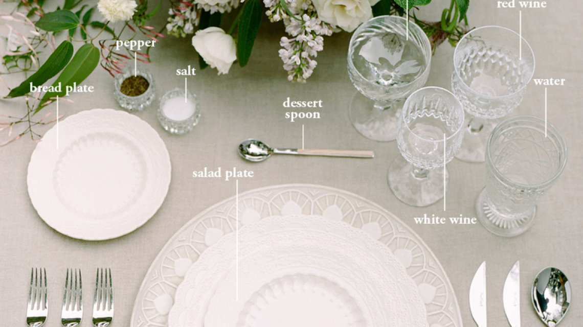 Table setting formal
