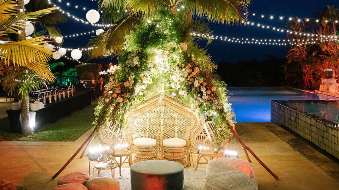 Anu and Sachin's Welcome Dinner at Zimbali Lodge, Balitto, KZN, South Africa