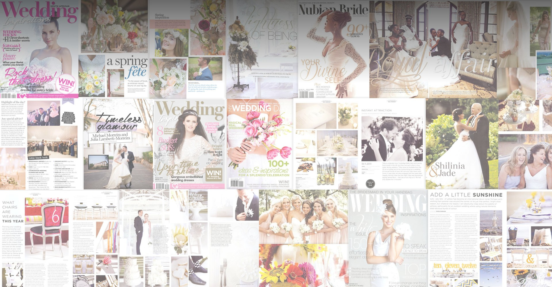 Weddings by Marius in the Media; South African wedding publications
