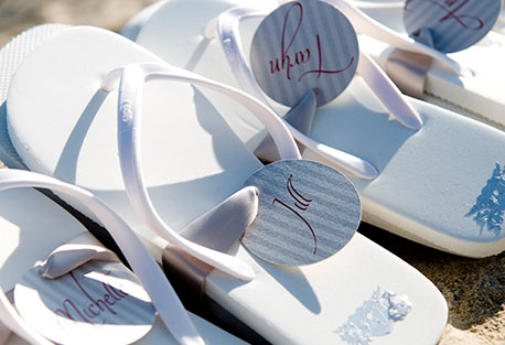 Wedding gifts & Wedding accessories; personalised wedding Flip-flops