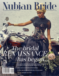 Weddings by Marius features in Nubian Bride issue 13