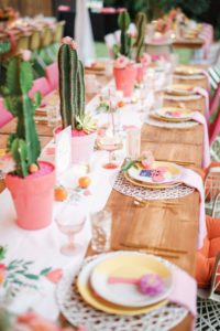 Easter egg hunt at the easter Table