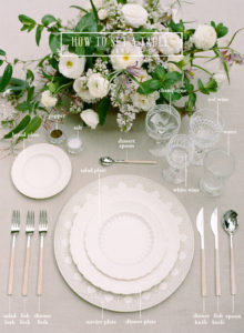 A professional formal table setting